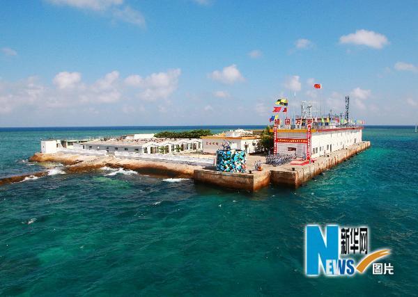 永暑礁建设规划图,永暑礁人工岛多大,2014永暑礁最新消息